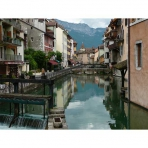 Canals of Old Annecy, France