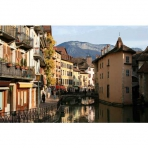 Annecy with Rhone-Alps Backdrop, France