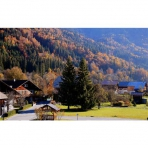Autumn View of Les Vallons from Samoens Self-Catering Accommodation, Chez Michelle
