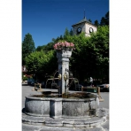 Samoens Town Square Fountain, France