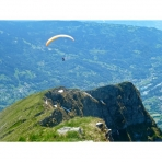 Paragliding over Samoens, French Alps