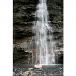 Waterfall on Cirque du Fer a Cheval Walk