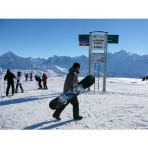 Skiing and Snowboarding in the Grand Massif, French Alps