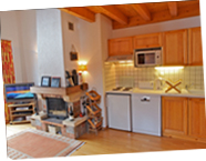 Fully equipped kitchen and log fire | Chez Michelle, Samoens
