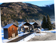 View towards Vallon d'en Bas in winter | Chez Michelle, Samoens
