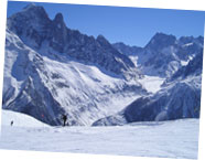 Chamonix ski area in France